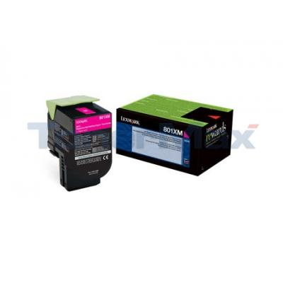 LEXMARK CX510 TONER CARTRIDGE MAGENTA RP 4K
